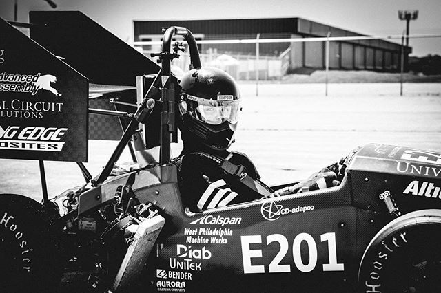 Three days to go until unveiling!! While we're putting the finishing touches on REV5, here's REV2: REV2 broke the North American acceleration record at 3.807s 0-75m and won second place at Lincoln 2016, due to a drivetrain pin shearing and causing the team to not be able to complete endurance.  #PennElectricRacing #UPenn #FSAE