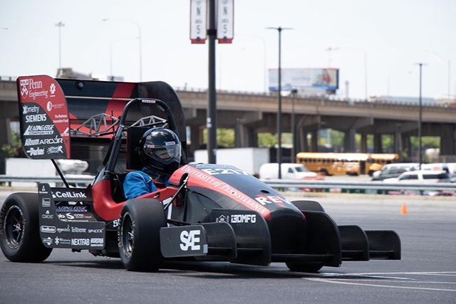 With just a few days until Lincoln, we've had lots of fun getting REV5 out testing! #FSAE #UPenn #PennElectricRacing
