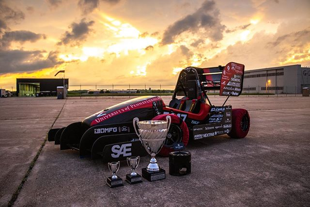 As Lincoln 2019 draws to a close, we are so excited that we were able to take home second place in Autocross and third place in Endurance, with third place overall! We were also the first place winner of the Cummins Inc Applied Technology Award for our Cellink flex PCB design in our accumulator. We'd like to thank all of our sponsors for making this possible! #FSAE #Lincoln2019 #PennElectricRacing #UPenn