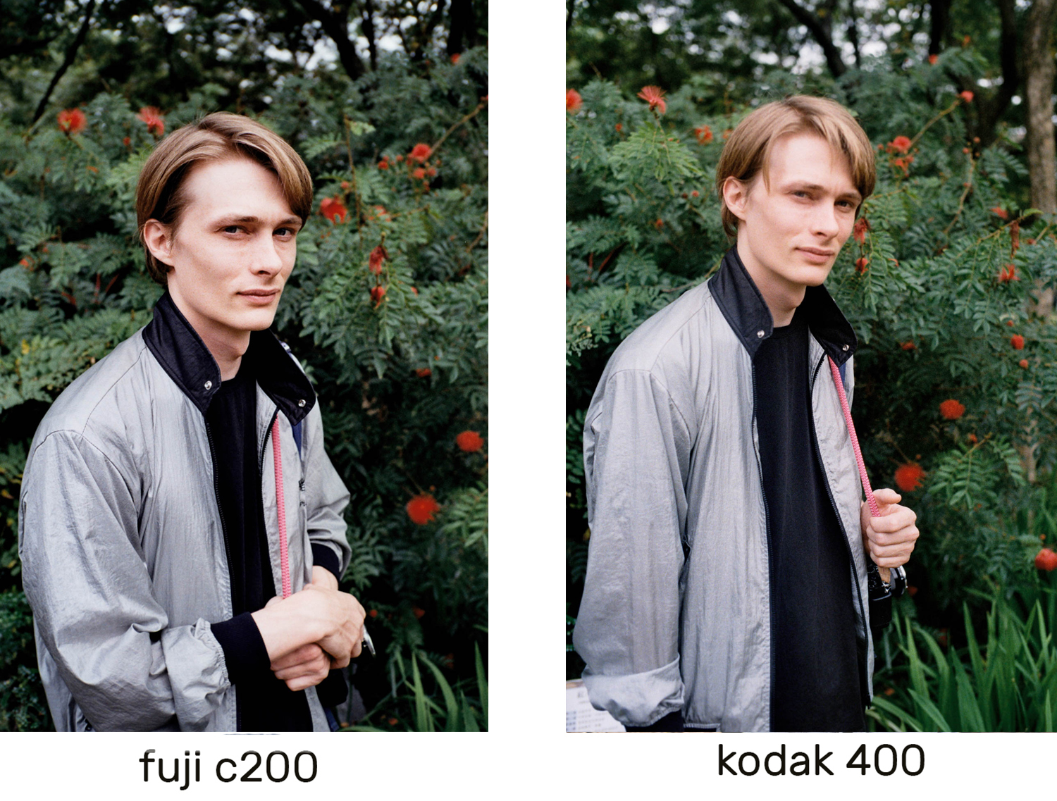 I expected a more vibrant red tonality in the Kodak, but they seem very similar.