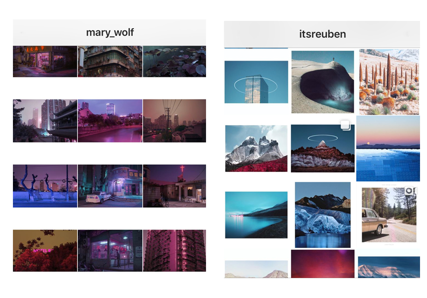 Two of my favourite Instagram Profiles: itsrueben and mary_wolf