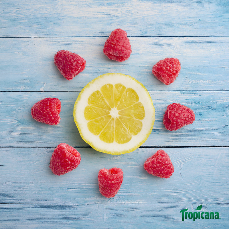 Post Copy:    Enjoy a taste of sunshine with Tropicana Raspberry Lemonade.
