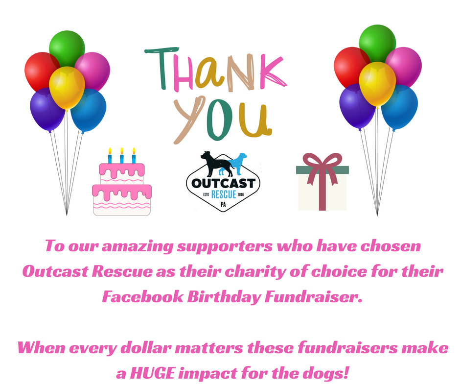 To our amazing supporters who have chosen Outcast Rescue as their charity of choice for their Facebook Birthday Fundraiser.png