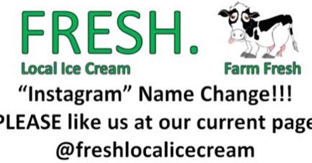 Please take a moment to start following us on our active Instagram account @freshlocalicecream  We post on that account very often. :) This account will be closed very soon.  Thank you. Fresh Crew
