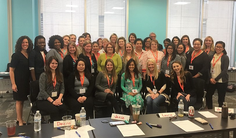 Tenured RF employees at the Women's Leadership Workshop hosted by Steve Felix and Liz Weiner of Felix Weiner Consulting Group.