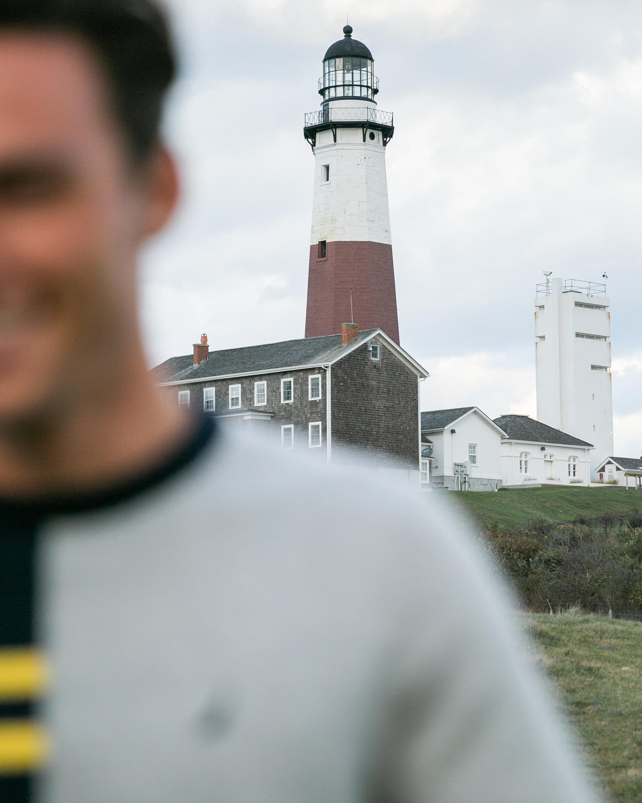Montauk Lighthouse from land.