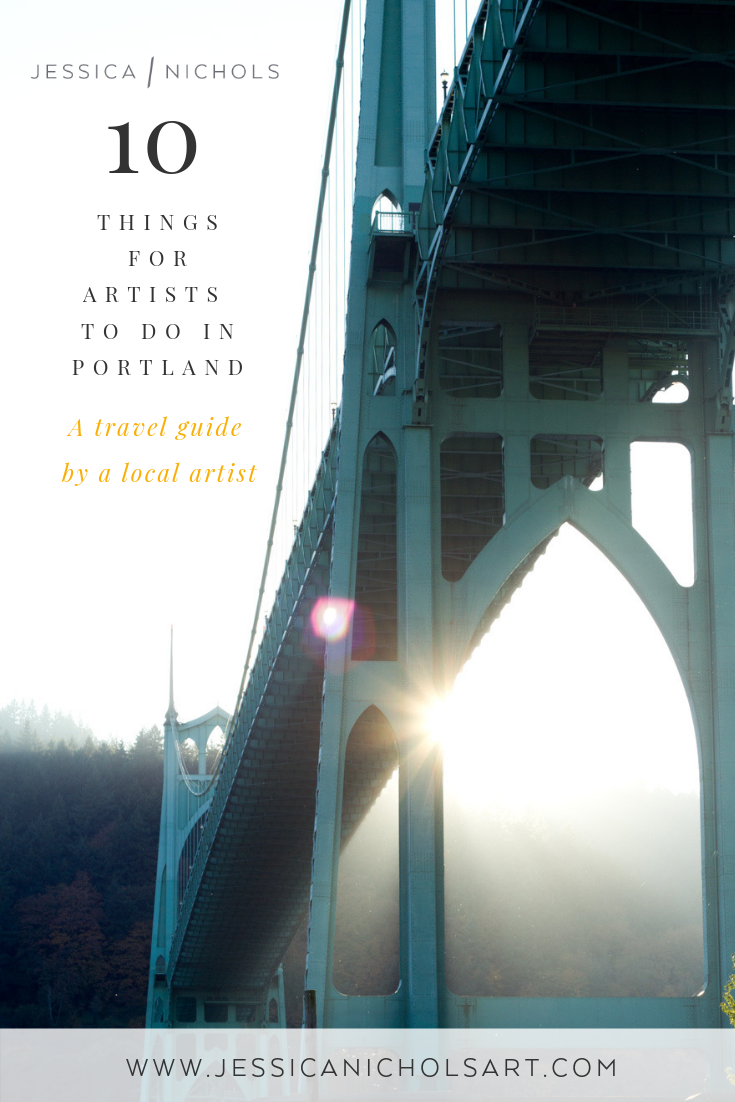 portland travel guide for artists by jessica nichols