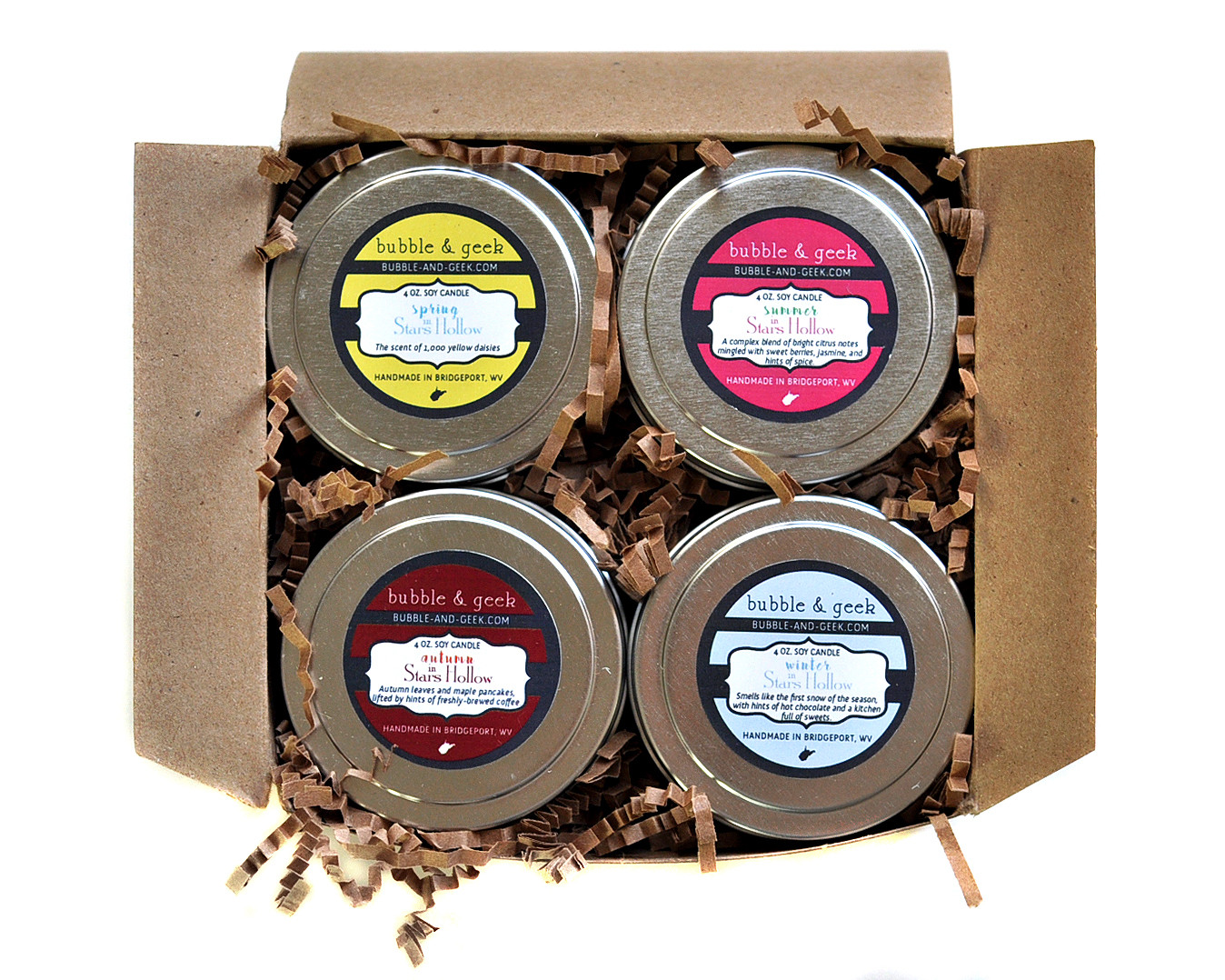 Four Seasons In Stars Hallow Candle Tin Gift Set