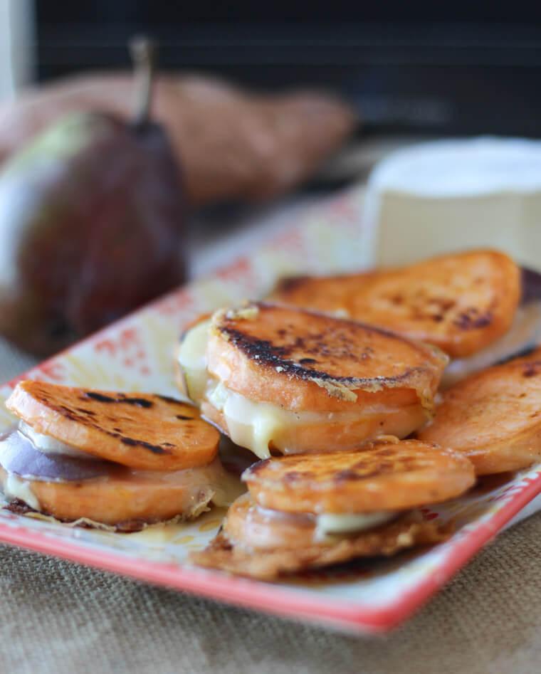 Sweet Potato Grilled Cheese Bites