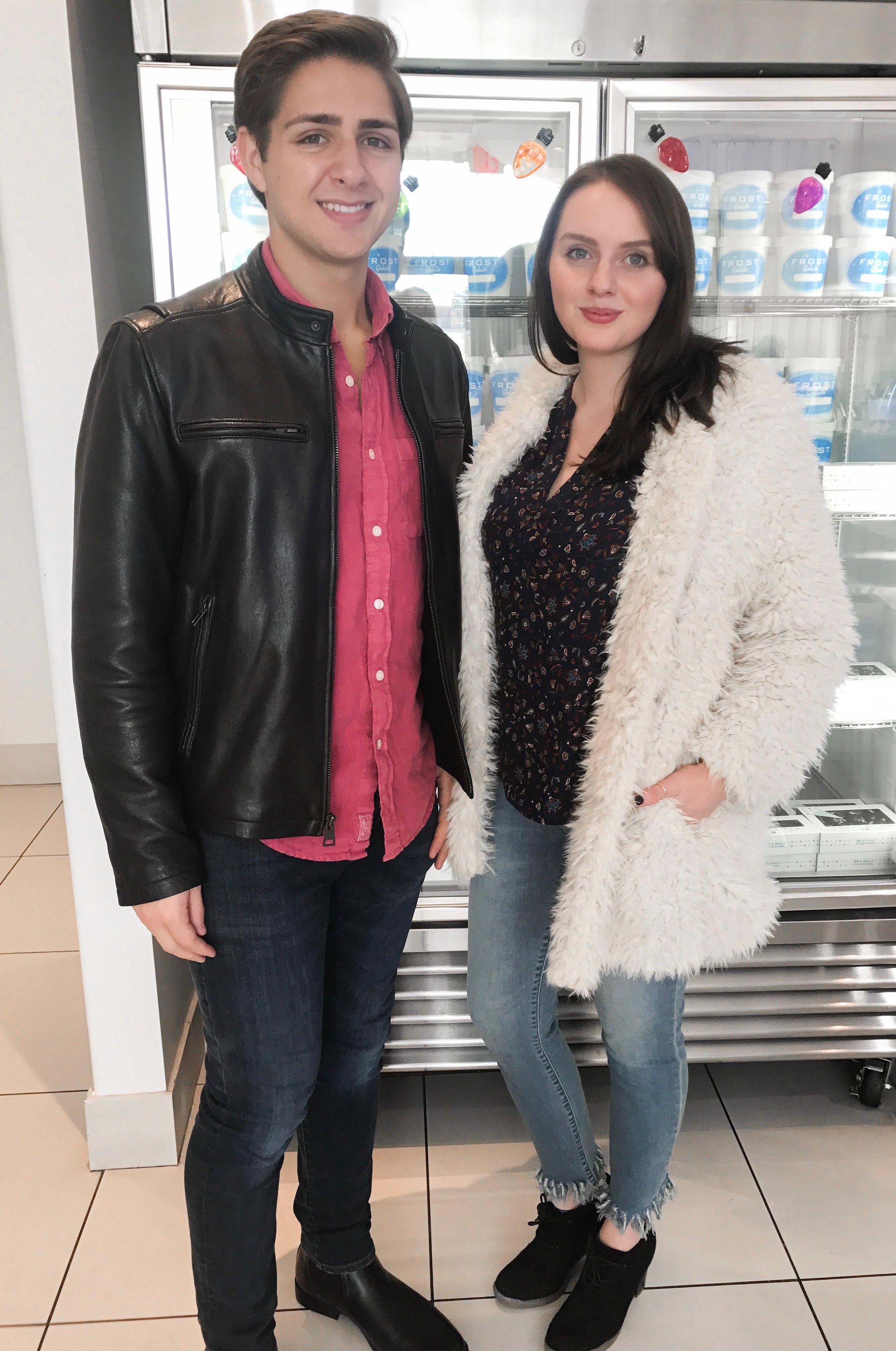 Model Johnny Bertuca & Blogger Macaila Britton