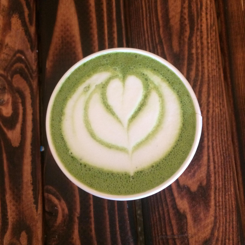 Rose Matcha Green Tea Latte