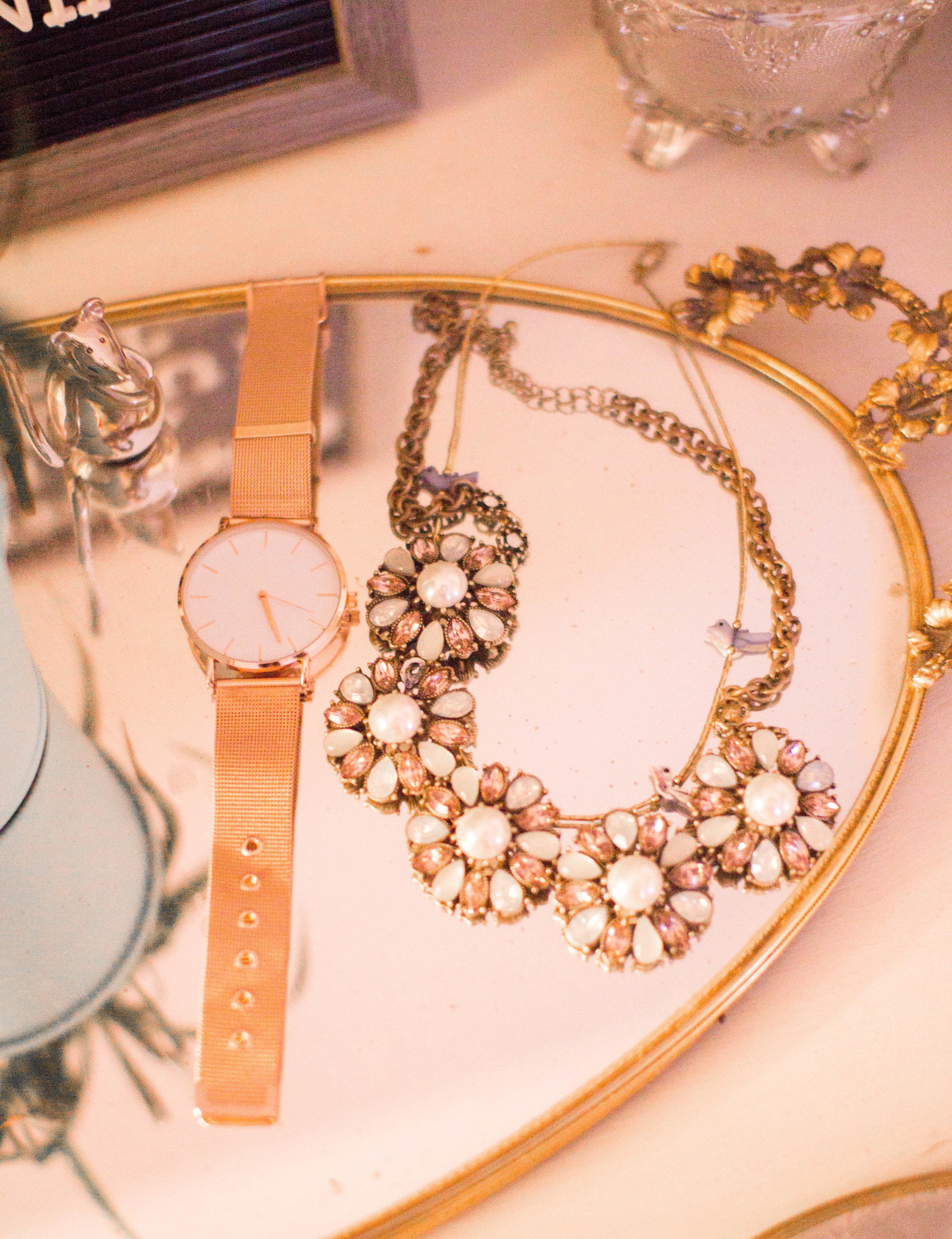 Vintage Jewelry Tray Display