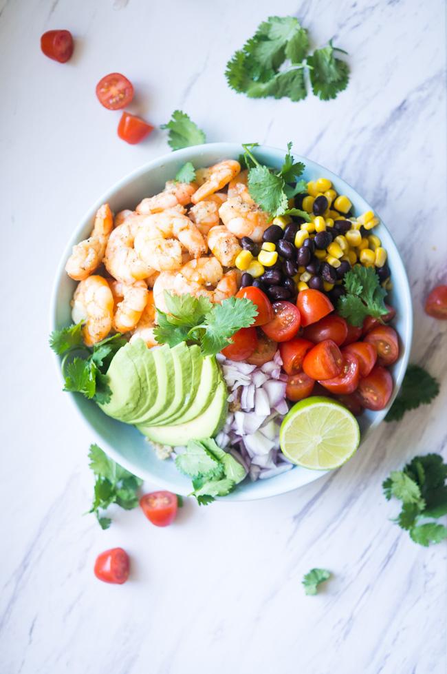 Garlic Lime Shrimp and Quinoa Salad