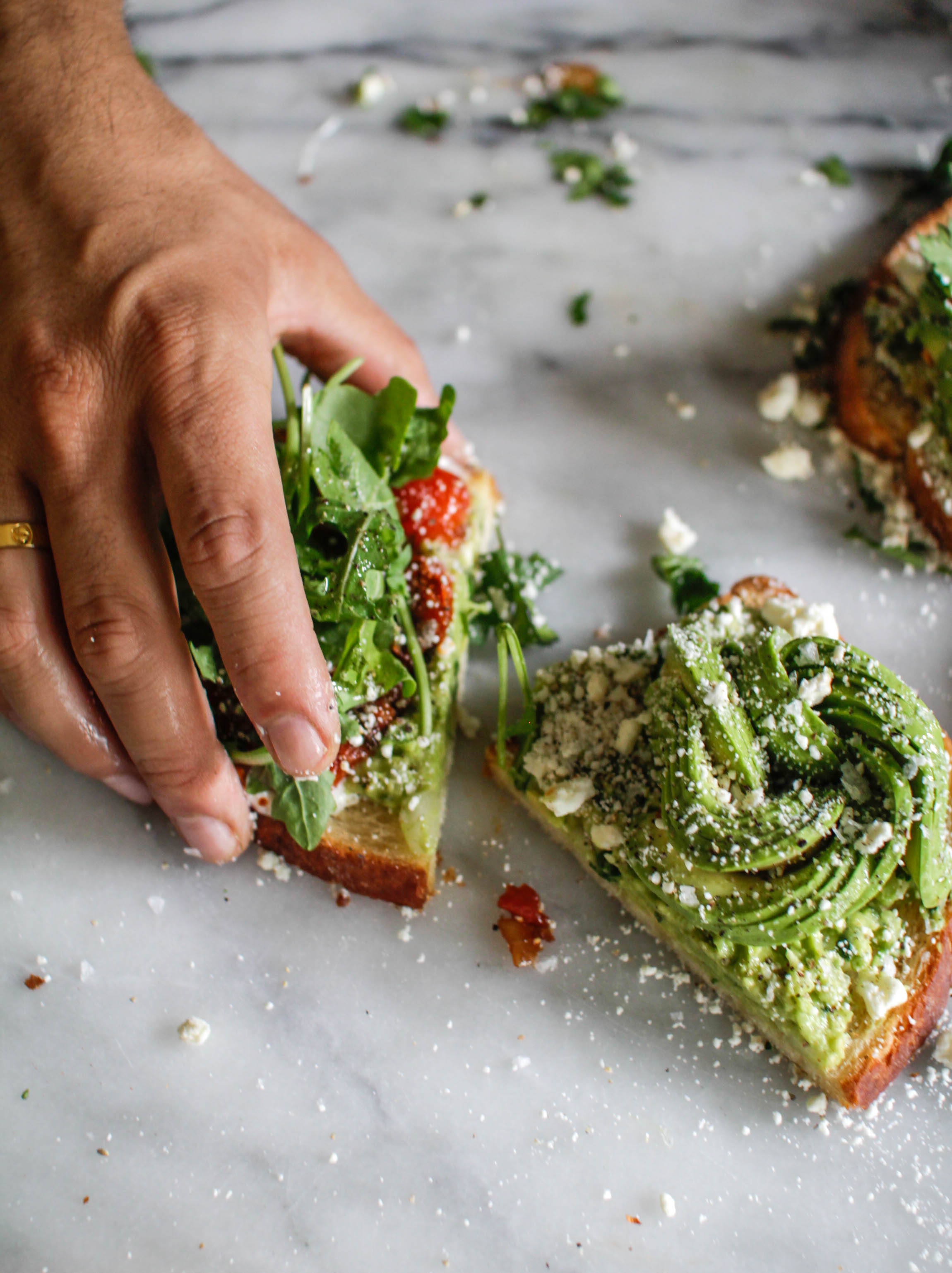 Avocado and tomato toast recipe