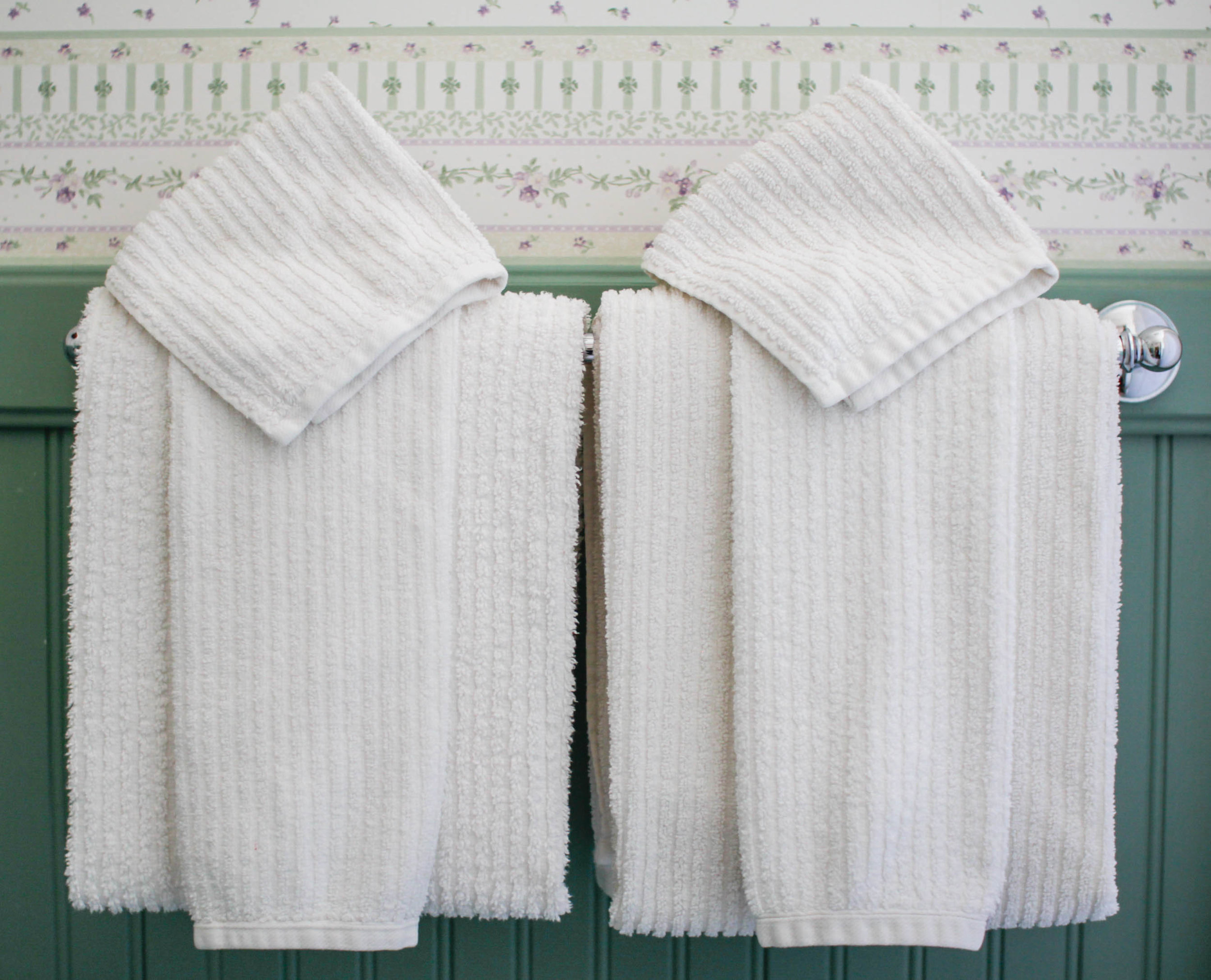Blue Bathroom Inspiration and Towel Fold