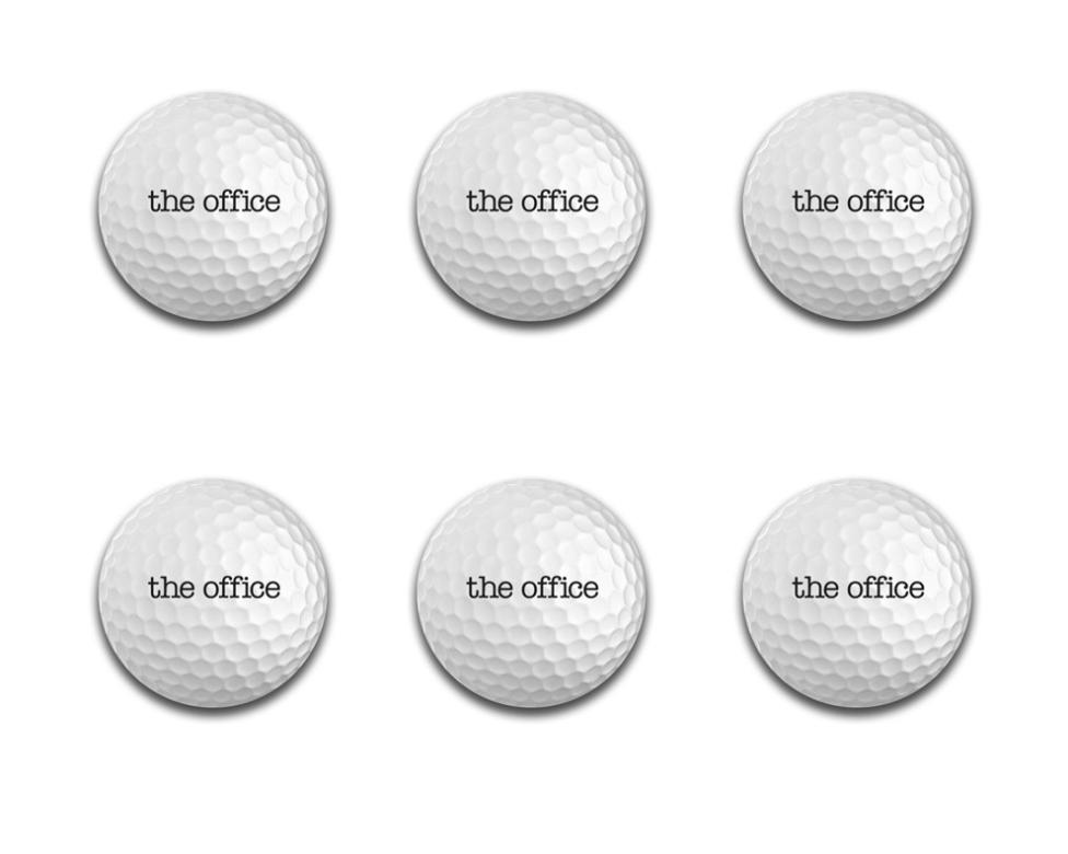 The Office Golf Balls