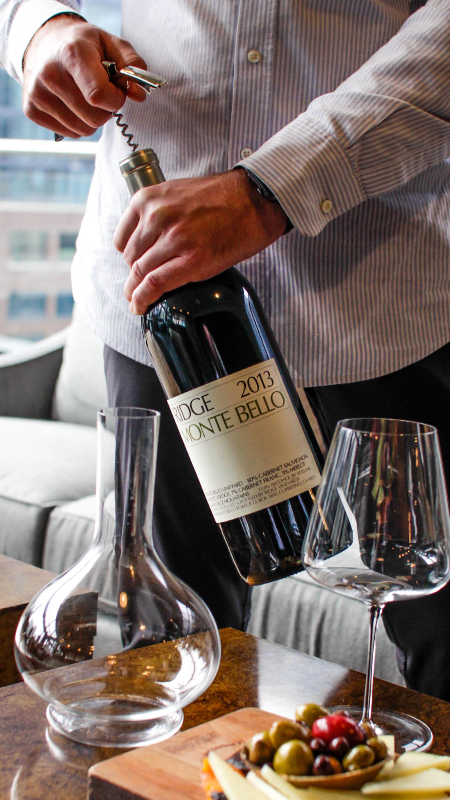 Ridge Monte Bello Wine Photography