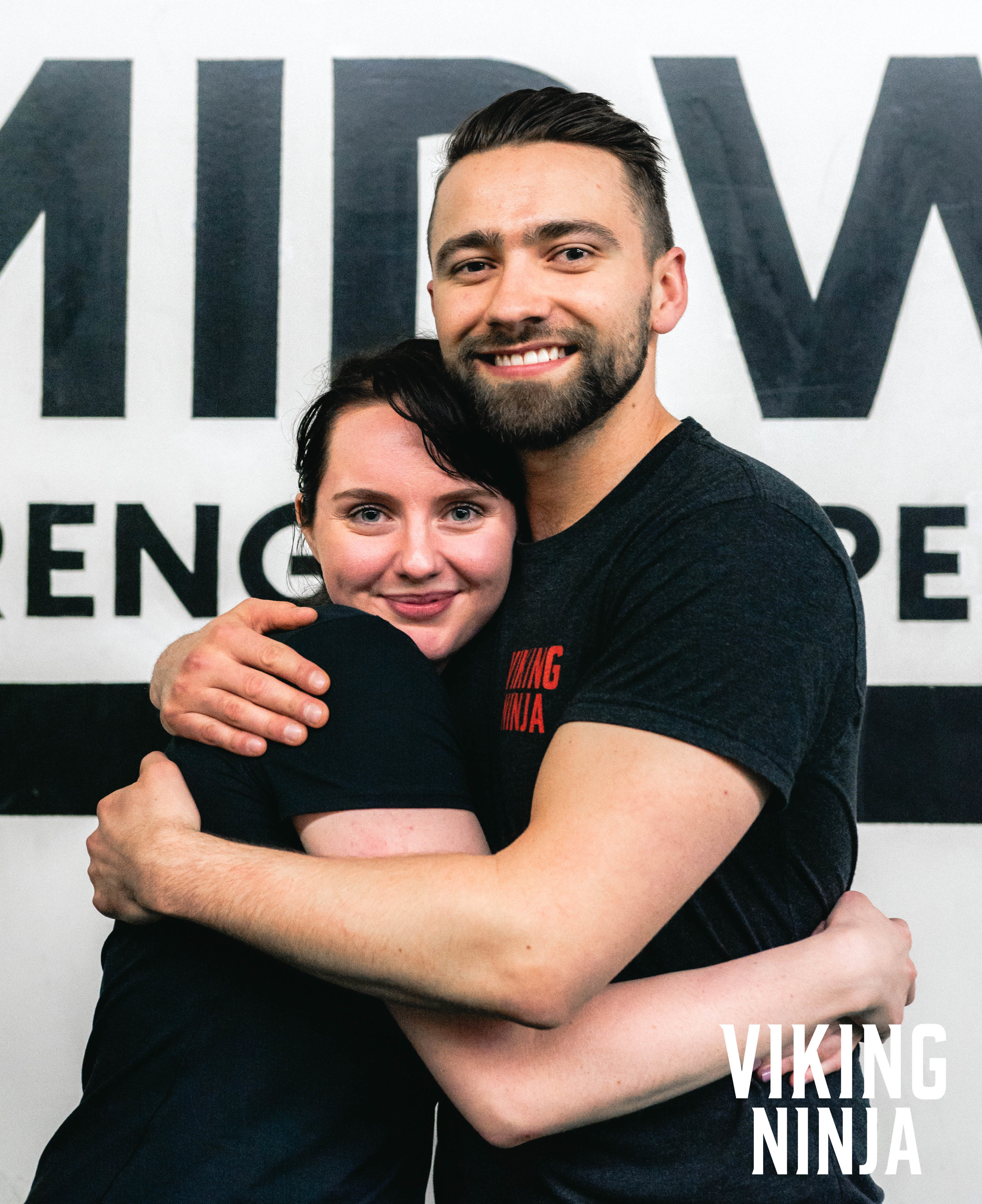 Zane Roebuck and Macaila Britton at the Viking Ninja Training System Event  in Chicago