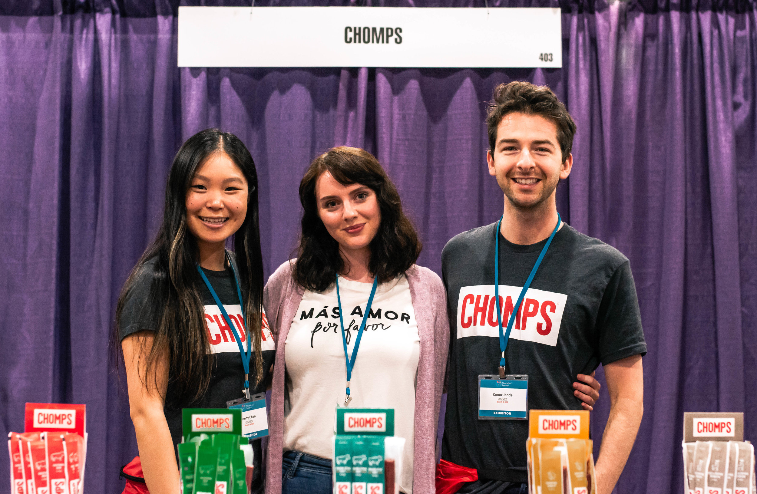 Macaila Britton and the CHOMPS team at the Chicago Nourish Festival