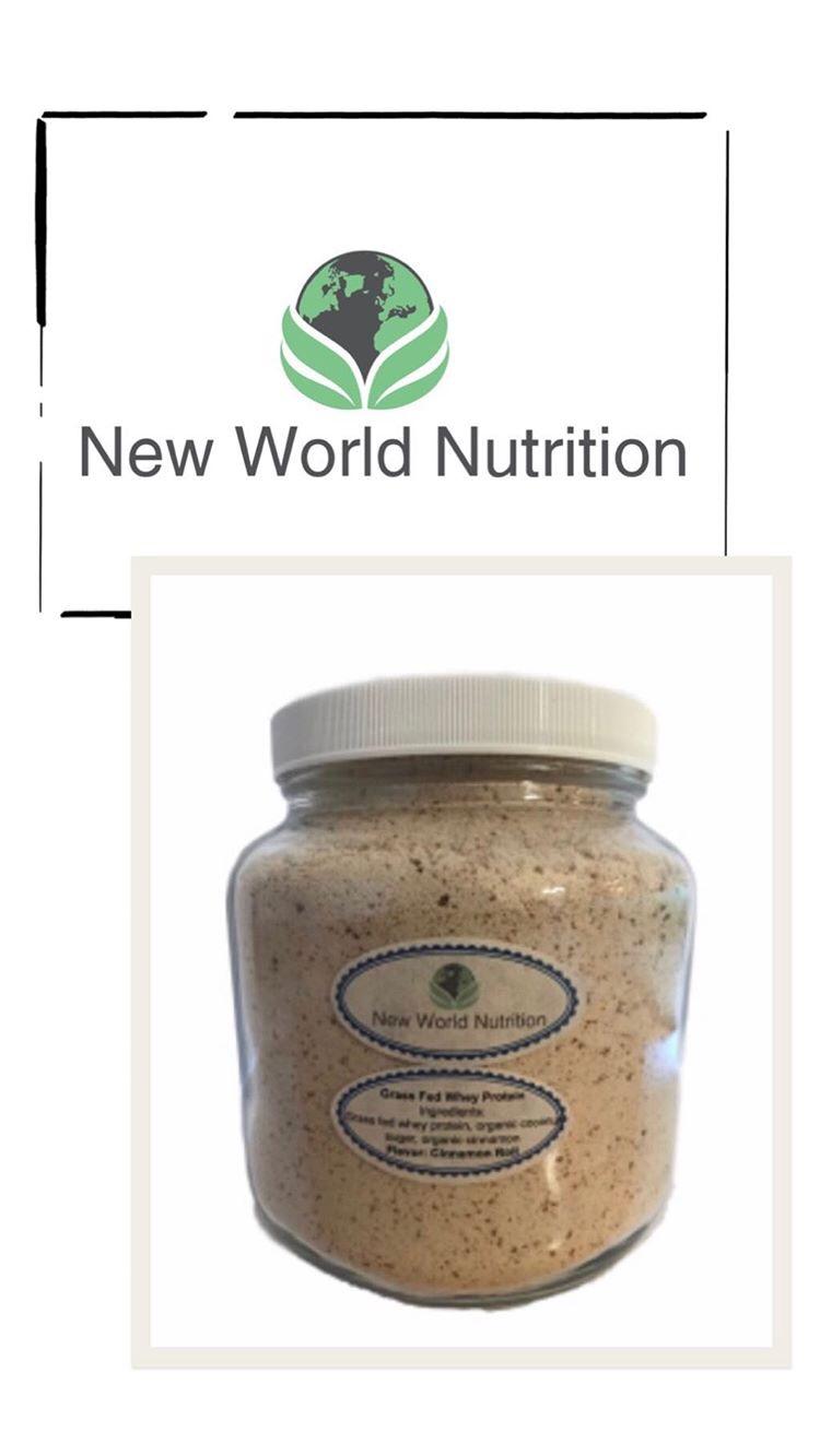 New World Nutrition Vegan Grass Fed Whey Protein Powder