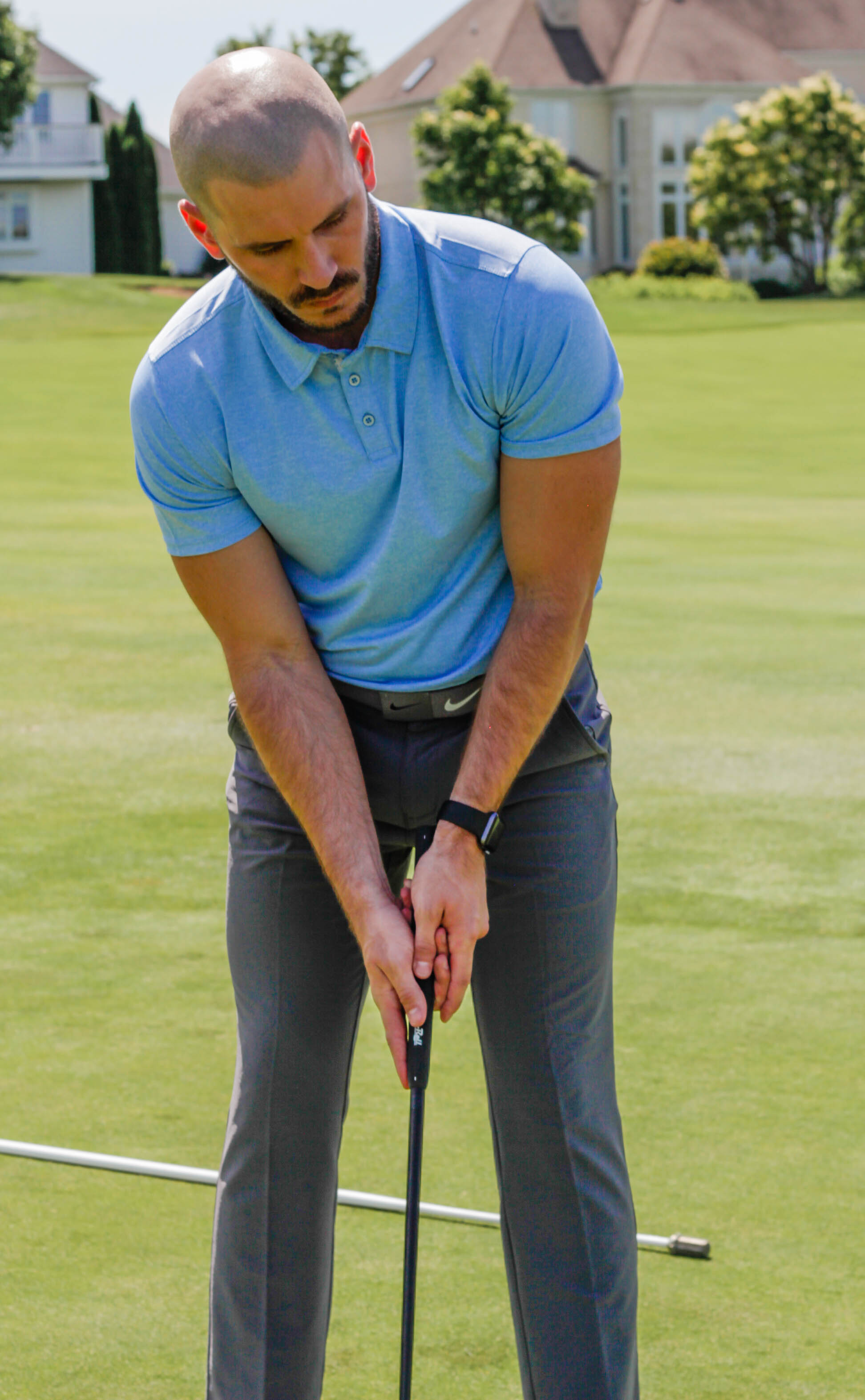 Wearing: The Etiquette Polo Shirt in Carolina Blue