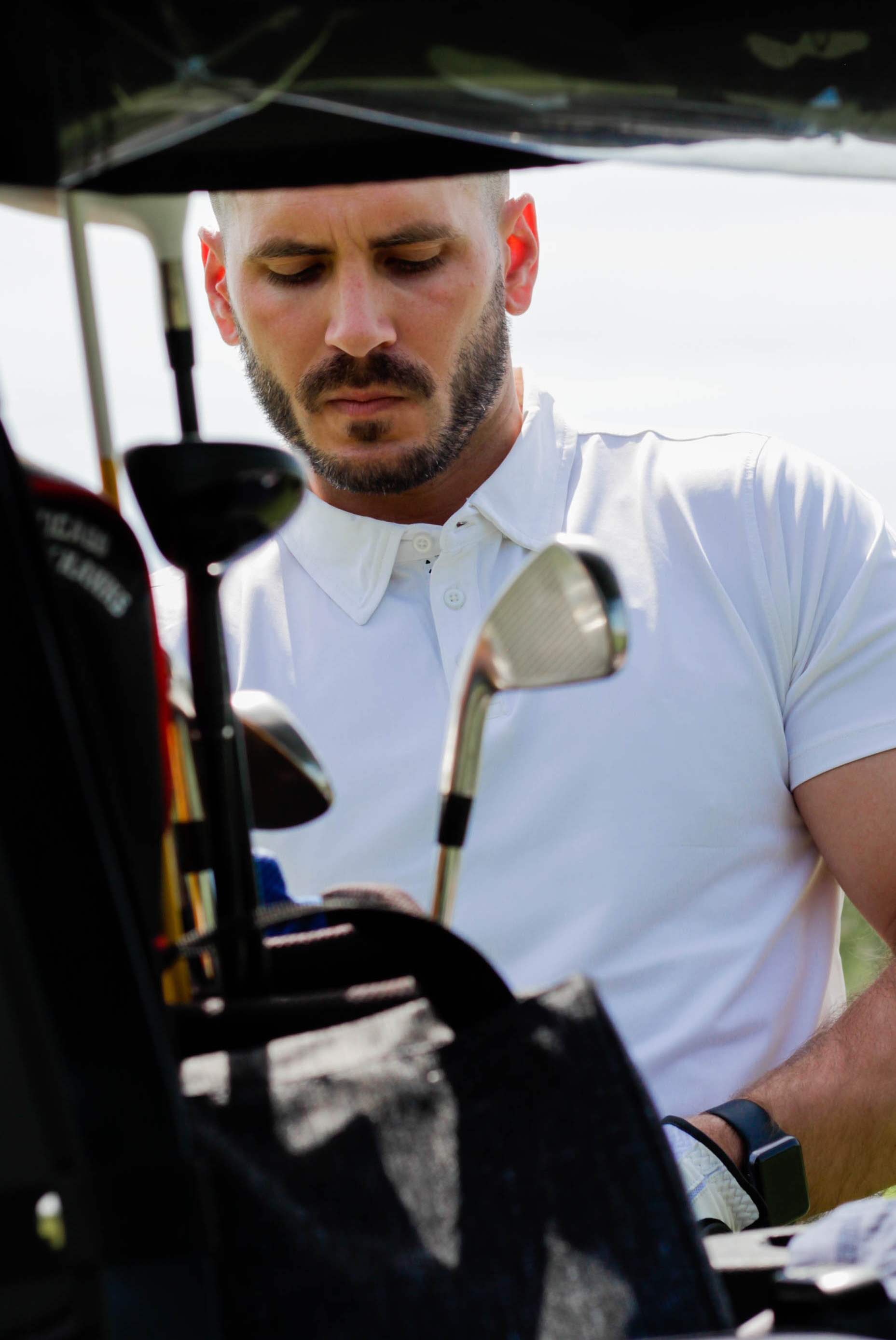 Wearing: The Etiquette Polo Shirt in White