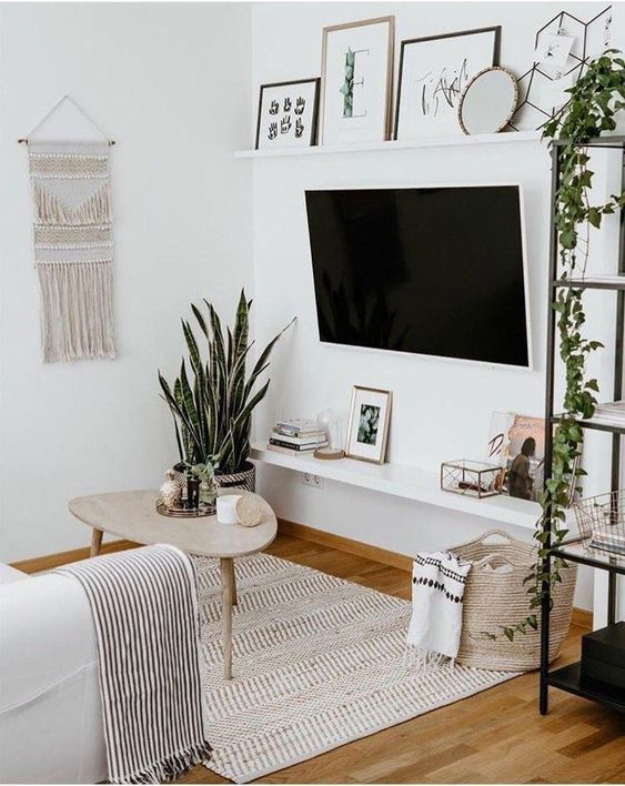 Cozy living room and what to binge watch on Hulu