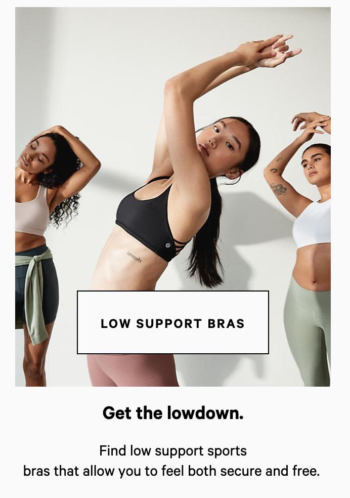lululemon low support sports bra