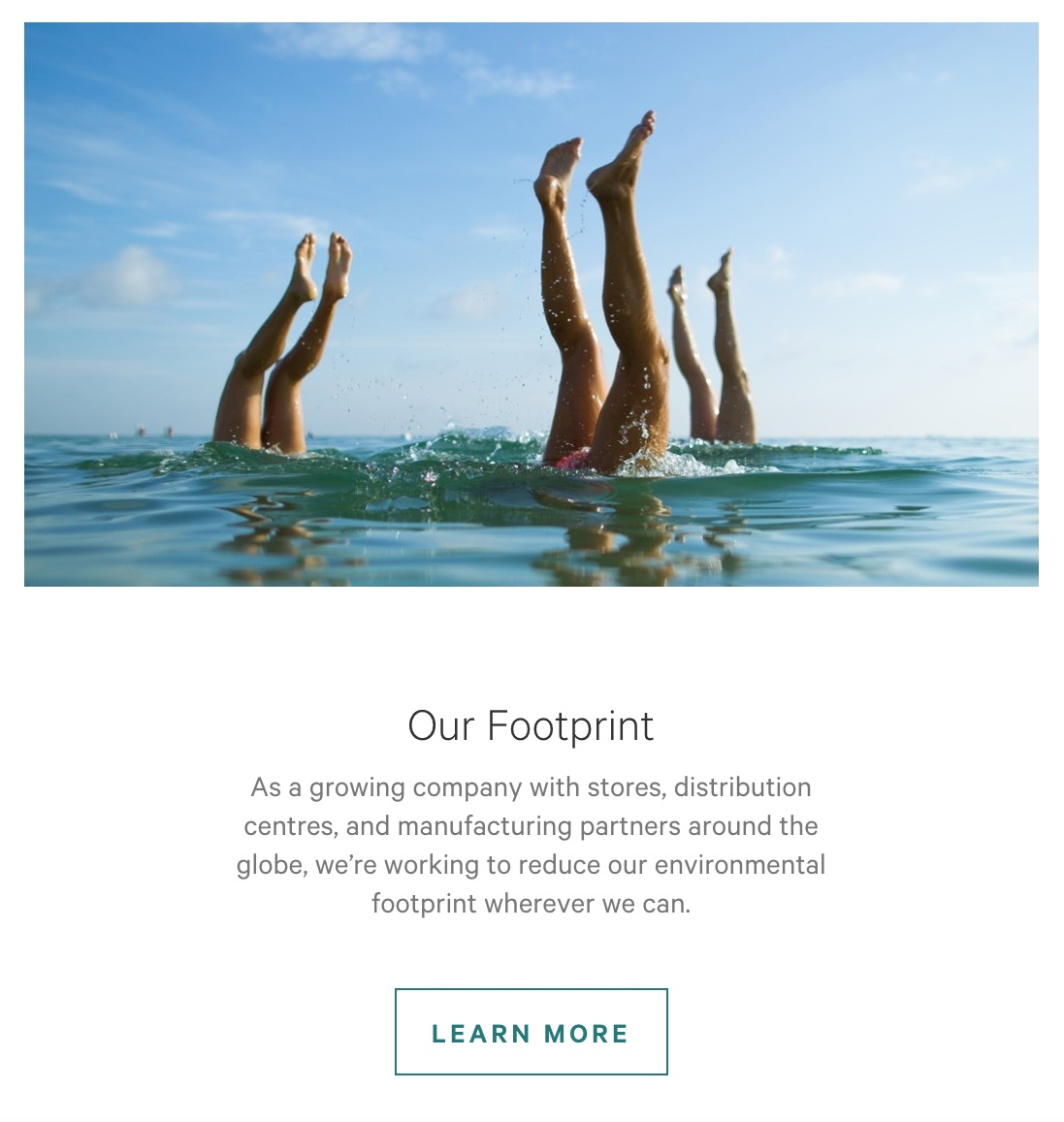 lululemon Sustainability Footprint