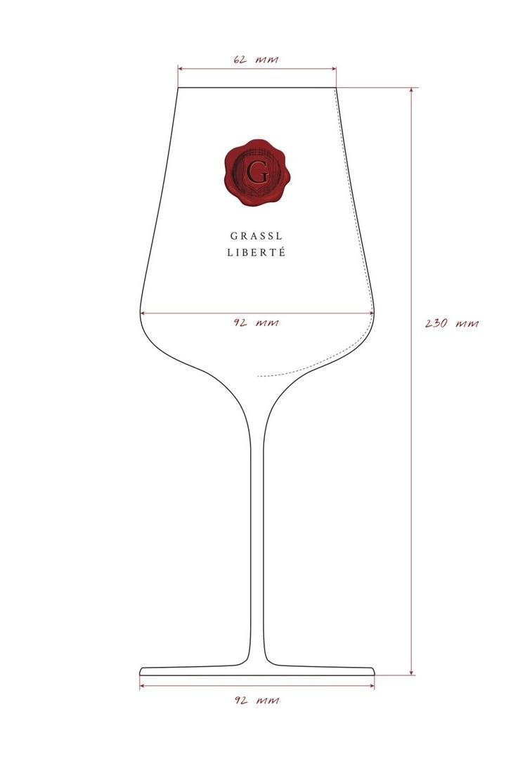 Grassl Liberté Wine Glass from Ivy Grapes Luxury Stemware