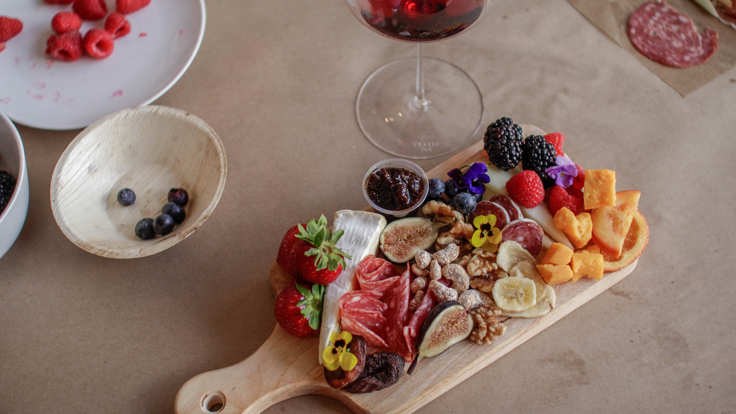 Stunning charcuterie board assembly and photography