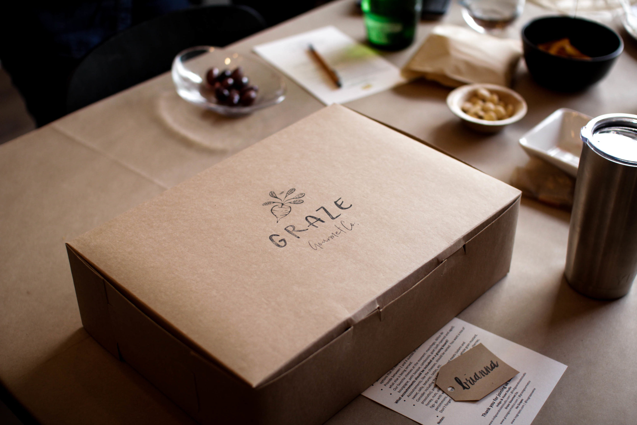 Graze Gourmet, a Chicago based charcuterie board delivery service