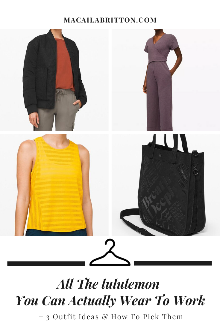 lululemon lookbook ideas for what to wear to work