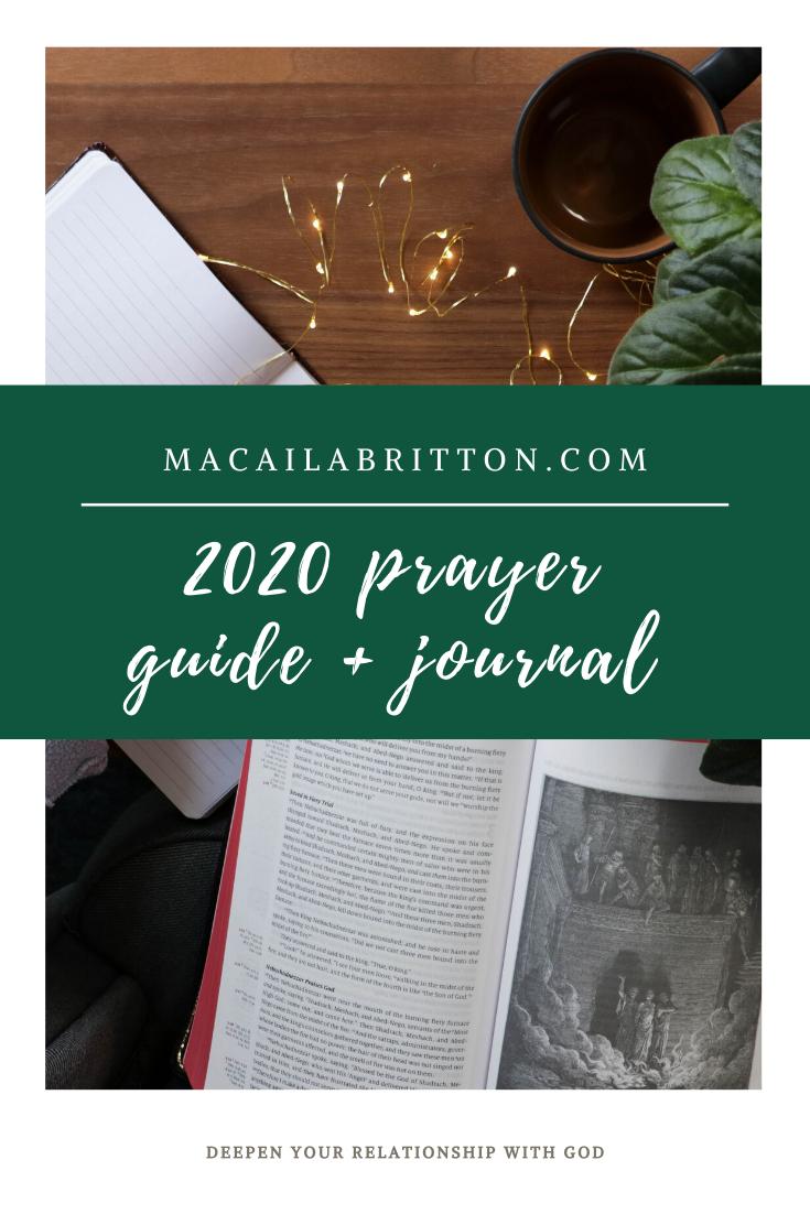 2020 Faith Guide + Prayer Journal