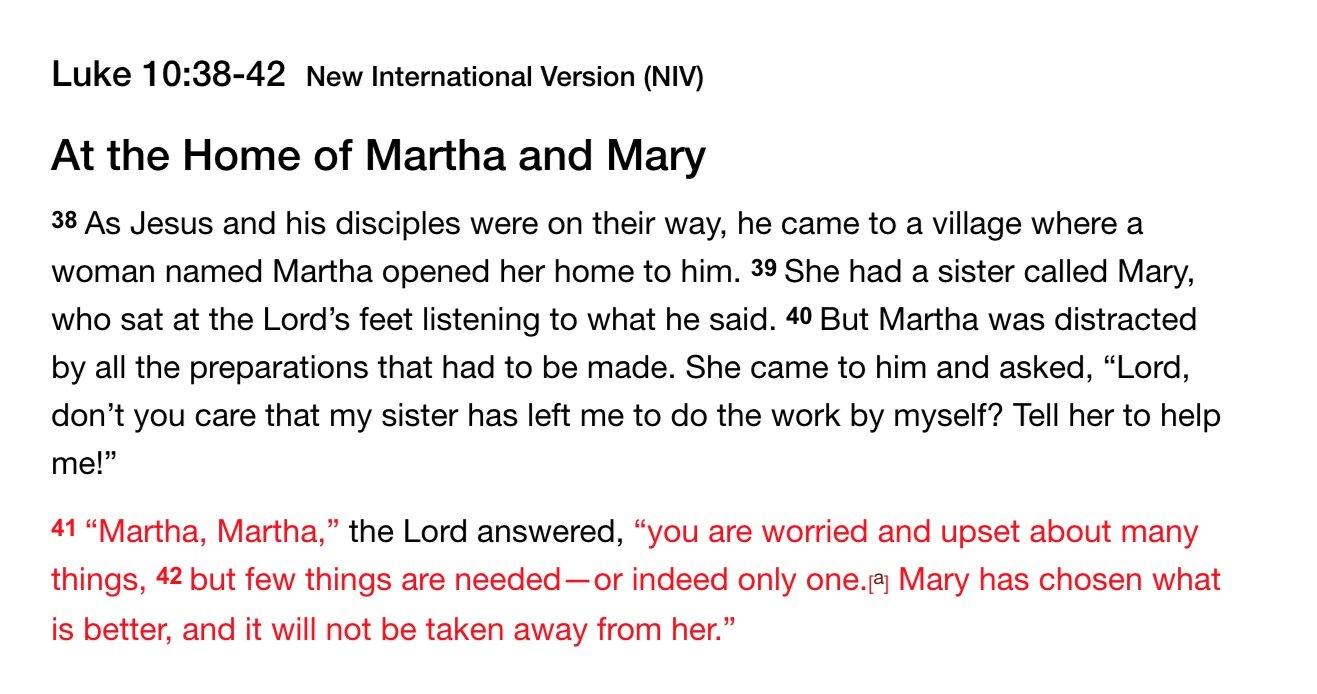 Luke 10:38-42 Mary and Martha Story Deeper Analysis