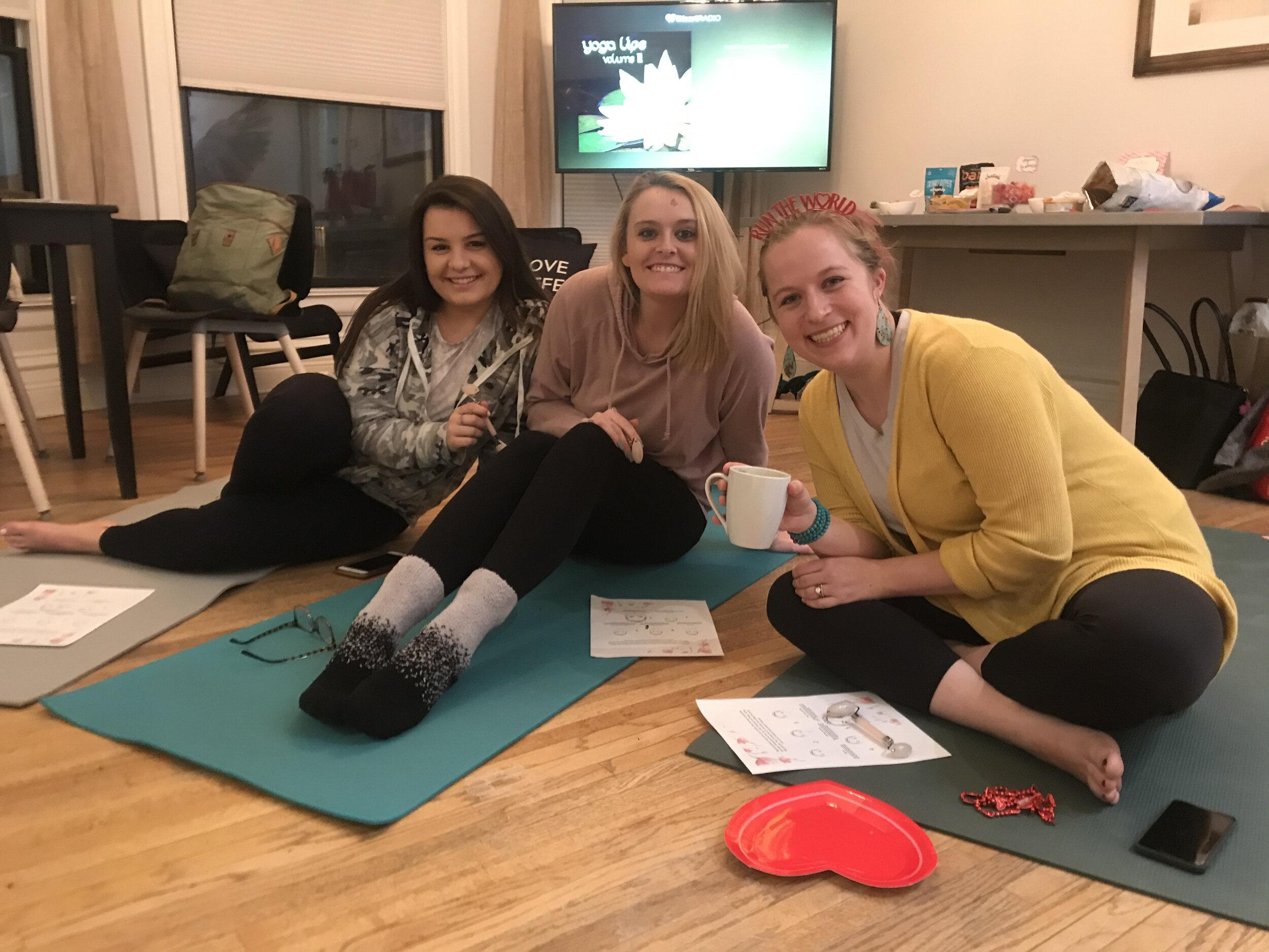 Human Trafficking yoga class donation event
