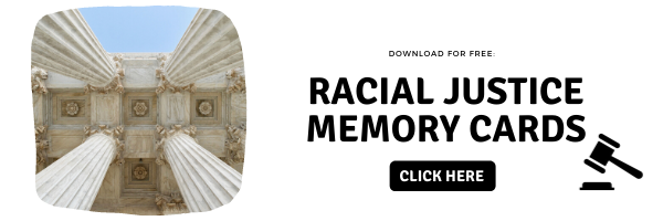 social justice memory card learning game for vocabulary