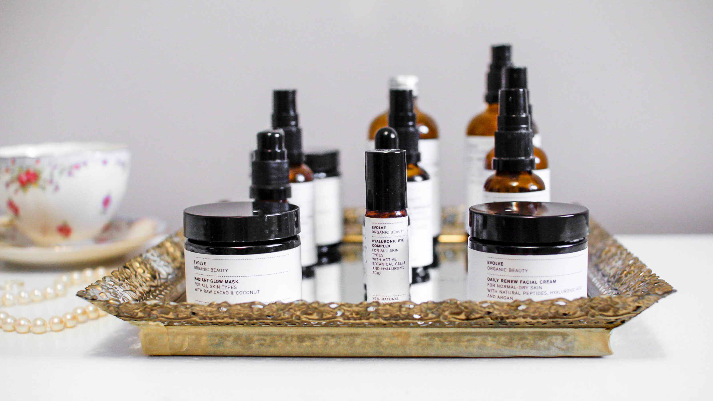 Evolve Beauty UK Skincare routine for sensitive, combination, and acne prone skin
