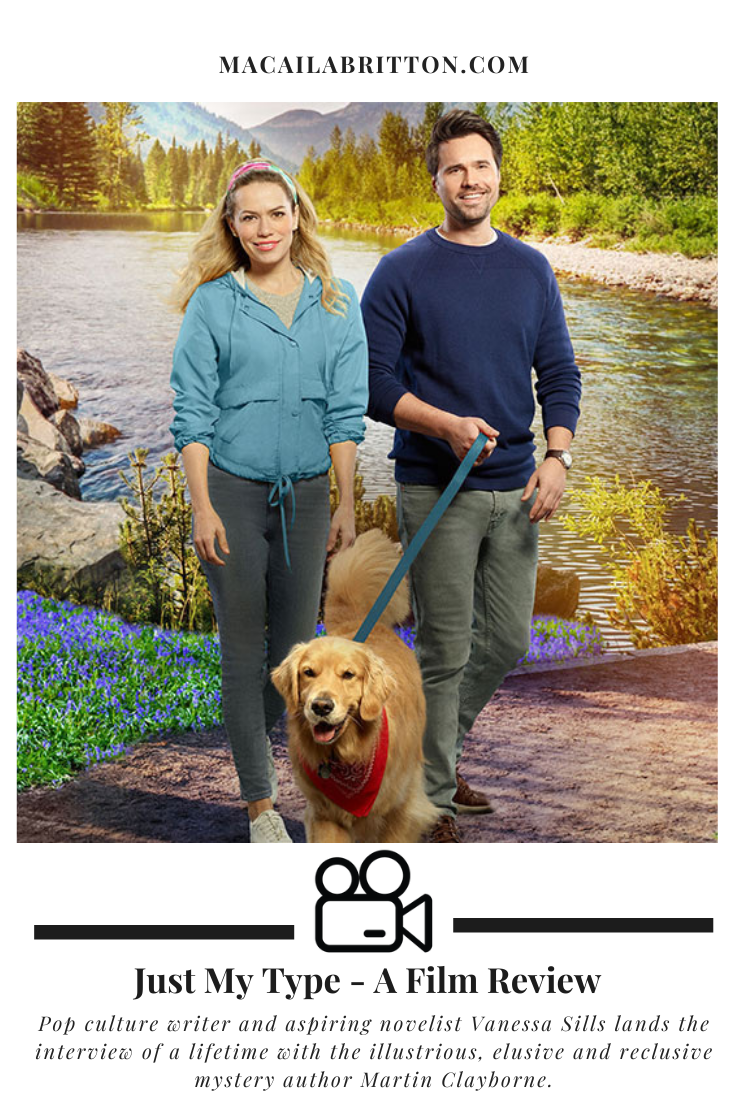 """The Hallmark Channel Original Movie """"Just My Type"""" with Bethany Joy Lenz about a writer and journalist falling in love."""