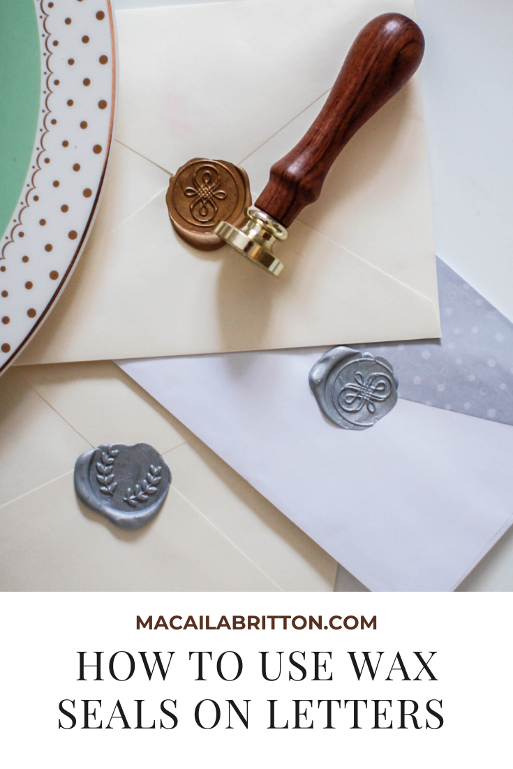 How to use wax seals on letters