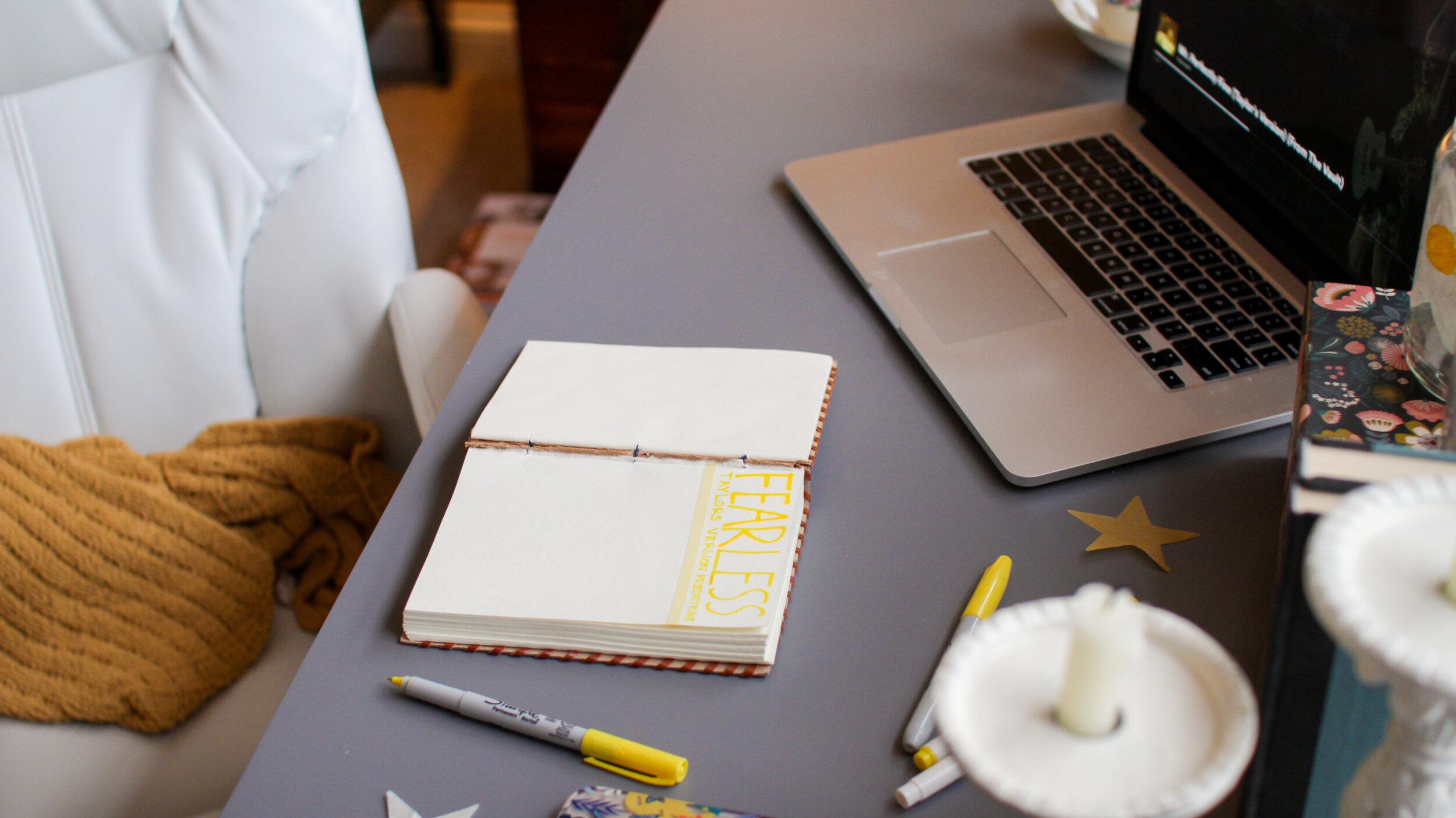 Desk aesthetic styling