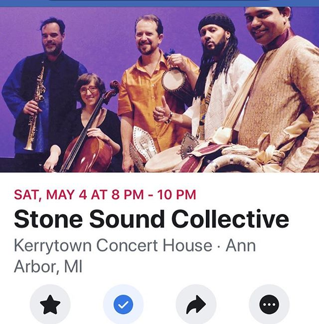 Back at it! May 4th, 2019 8pm Ann Arbor, MI link in bio The Stone Sound Collective brings together celebrated world percussion traditions of Africa and India with the lyricism of cello and saxophone, combining influences from American jazz, traditional African music, classical Indian music, and European concert music. #stonesoundcollective #chiamenra