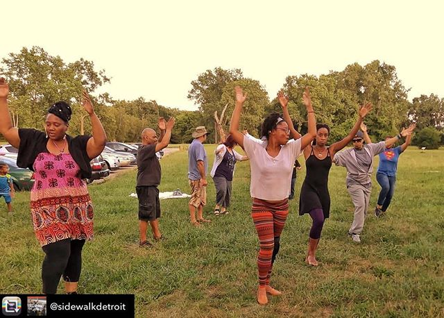 Repost from @sidewalkdetroit - #TOMORROW RAISE YOUR HANDS UP! dynamic classes led by the renowned Amen-Ra family, African Drum and Dance Class kick-off at #ElizaHowellPark2019 Come MOVE with us, all levels, all ages (rain plan Brightmoor Artisans Collective, 22735 Fenkell) 6:30pm #free bring a friend. #SidewalkDetroit  @chiamenra