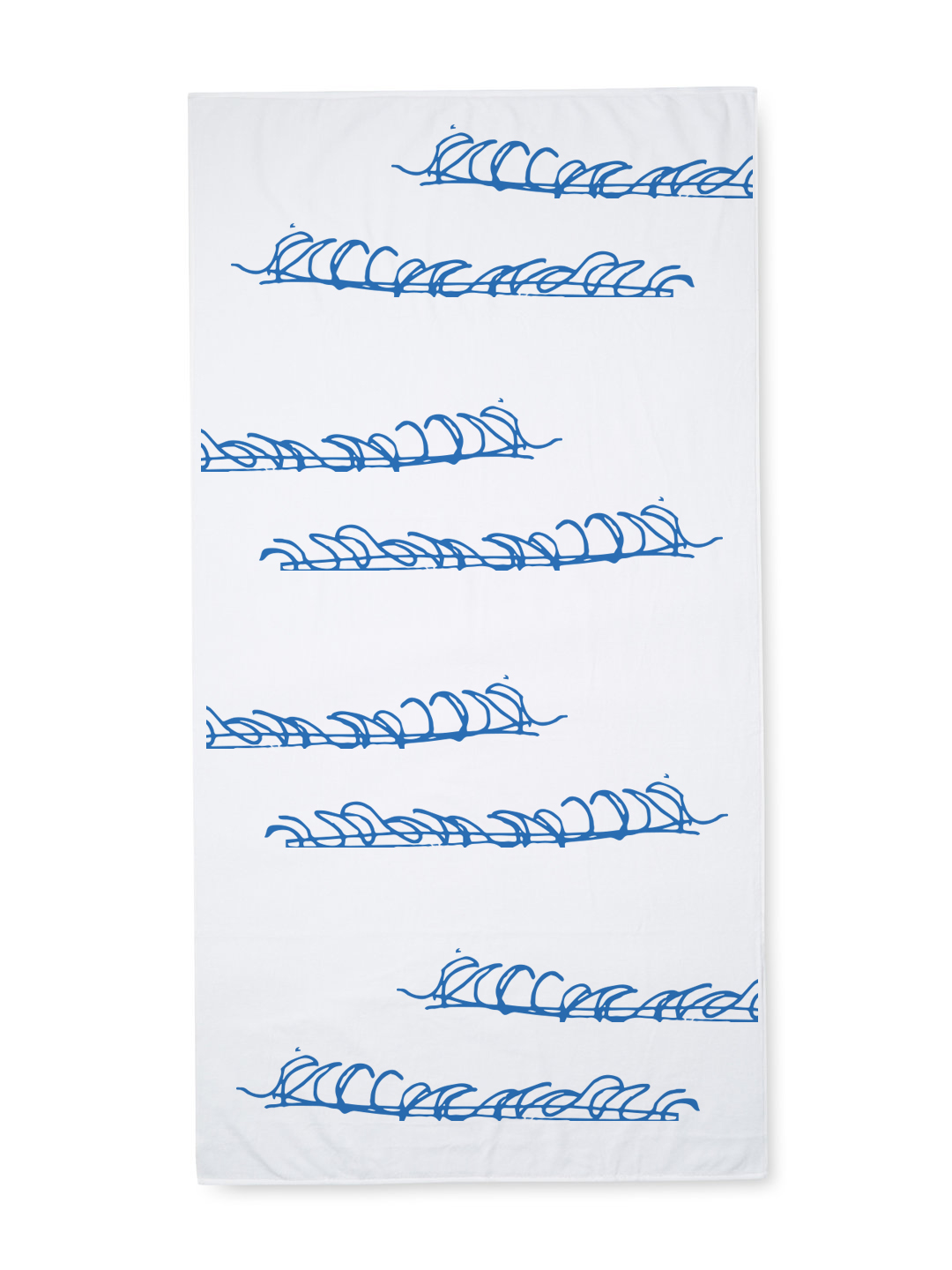 Waves Beach Towel 60x30