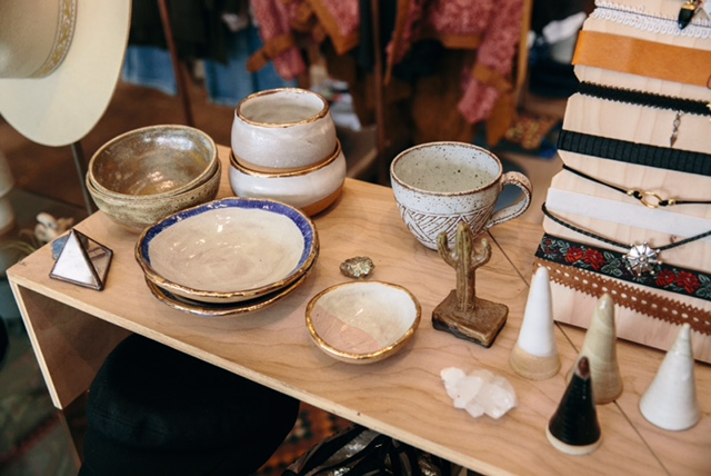 Samantha Brown Ceramics displayed at Prism Boutique in Long Beach, CA. Photo credit to Prism.