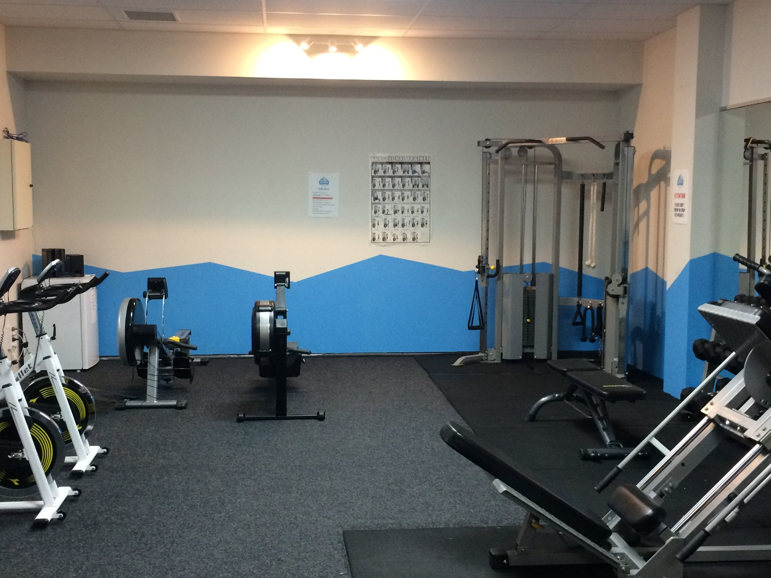 The cardio section with functional trainer