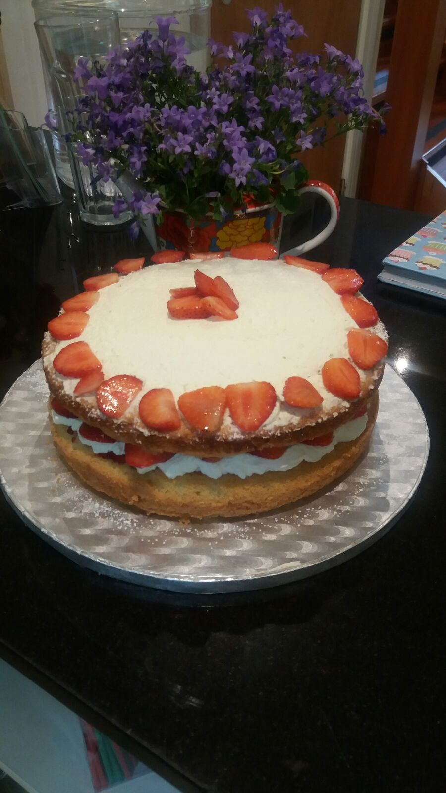 Strawberry and Cream, Victoria Sponge Cake