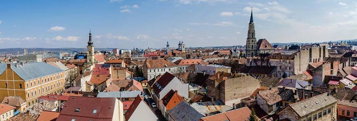 You can rent a studio in the Old Town of Cluj for 350 euro per month