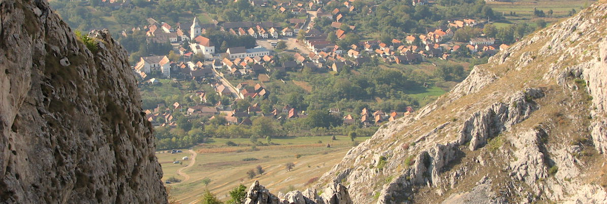 This UNESCO-Heritage Site is a Medieval Hungarian village surrounded by beautiful mountains located in central Transylvania (copyright:  creative commons )