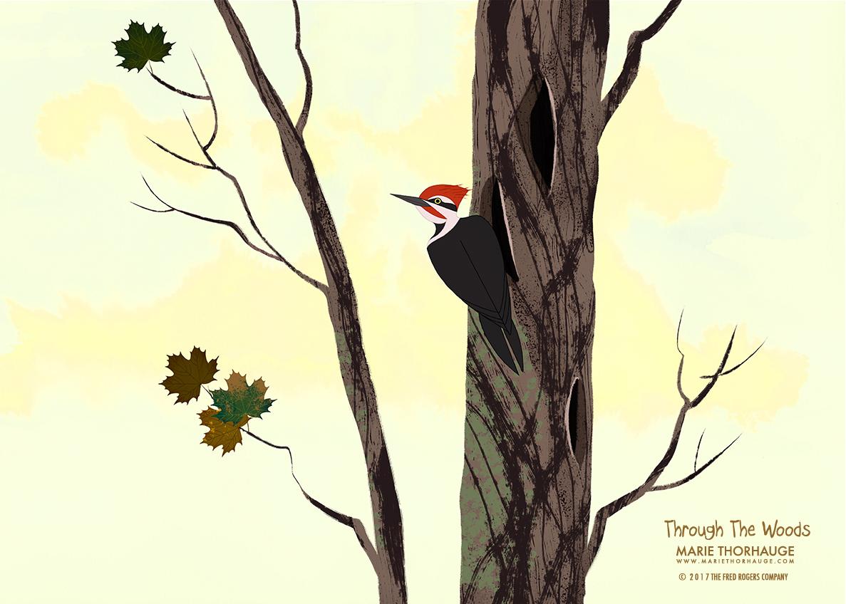 Marie-Thorhauge_Through-The-Woods_Woodpecker_summer.jpg
